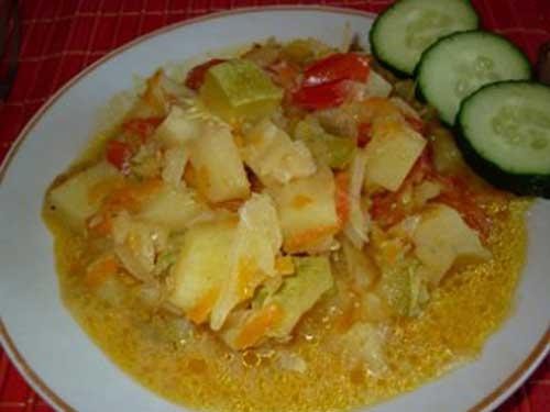 Овощное рагу со сметаной в духовке рецепт